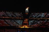 OLYMPIC GAMES: PYEONGCHANG: 09-02-2018, PyeongChang Olympic Stadium, Olympic Games, Opening Ceremony, Olympic Flame, ©photo Martin de Jong
