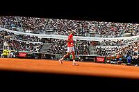 Novak Djokovic of Serbia in action during the Men's final match played against Rafael Nadal of Spain. Rafael Nadal won 6-0, 4-6, 6-1 <br /> Roma 19/05/2019 Foro Italico  <br /> Internazionali BNL D'Italia Italian Open <br /> Photo Andrea Staccioli / Insidefoto