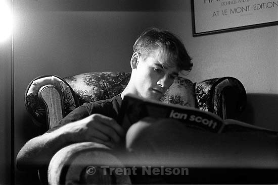 Trent Nelson at the Rock, our riverside apartment.   &amp;#xA;<br />
