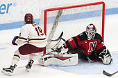 Makenna Newkirk (BC - 19), Brittany Bugalski (NU - 39) -  The Boston College Eagles defeated the Northeastern University Huskies 2-1 in overtime to win the 2017 Hockey East championship on Sunday, March 5, 2017, at Walter Brown Arena in Boston, Massachusetts.