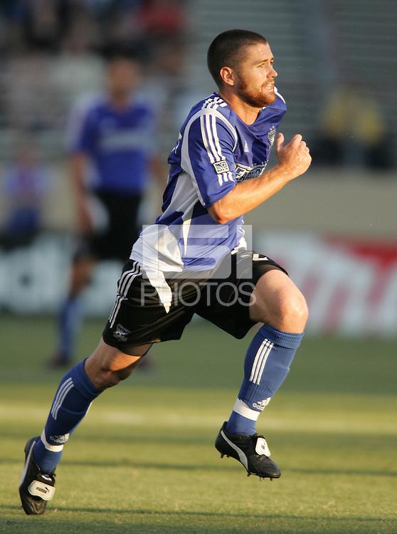 Earthquakes captain Wade Barrett. The San Jose Earthquakes defeated the Colorado Rapids 1-0 at Spartan Stadium in San Jose, CA on June 29, 2005.