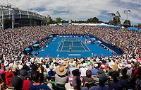 Ana Ivanovic (SRB) (20) against Gisela Dulko (ARG) in the Second Round of the Womens Singles. Dulko beat Ivanovic 6-7 7-5 6-4.I.nternational Tennis - Australian Open Tennis - Thur 21 Jan 2010 - Melbourne Park - Melbourne - Australia ..© Frey - AMN Images, 1st Floor, Barry House, 20-22 Worple Road, London, SW19 4DH.Tel - +44 20 8947 0100.mfrey@advantagemedianet.com