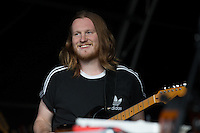 Chris Hall of Fickle Friends performs at AmpRocks 2016 before the power blew and brought an end to their performance at Ampthill Great Park, Ampthill, England on 30 June 2016. Photo by David Horn.