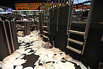 The empty trading floor after the closing bell at the CME Group in Chicago, Illinois on October 10, 2008.