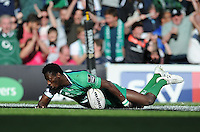 28/05/2016;Guinness Pro12 Final<br /> Connacht&rsquo;s Niyi Adeolokun scores his side's second try<br /> Photo Credit: actionshots.ie/Tommy Grealy