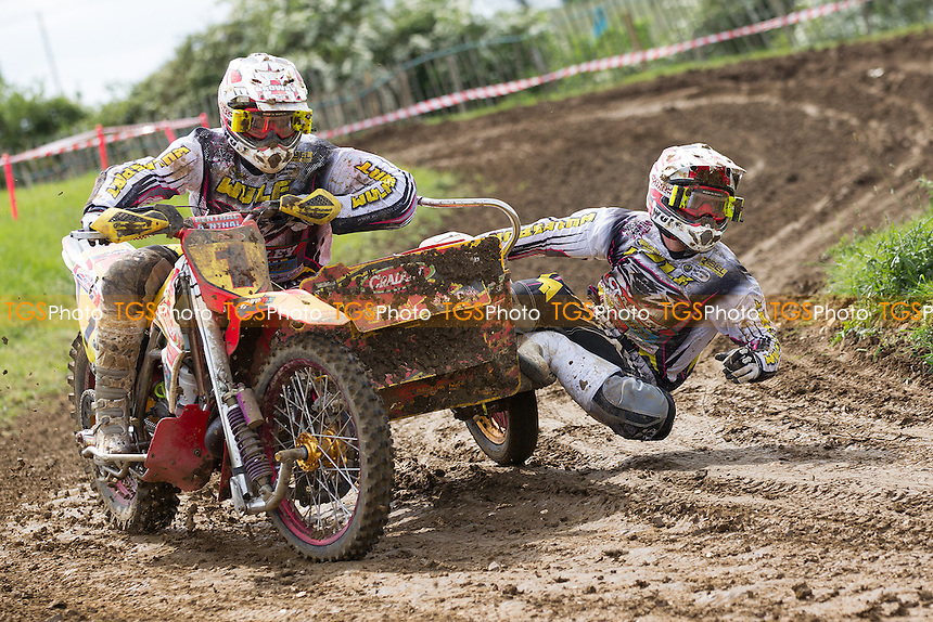 Stuart Brown and Josh Chamberlain won all three Moto's at Wattisfield during ACU British Sidecar Cross Championship Round Three at Wattisfield Hall MX Track on 22nd May 2016
