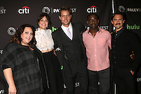 BEVERLY HILLS, CA - SEPTEMBER 13: Chrissy Metz, Mandy Moore, Justin Hartley, Sterling K. Brown, Milo Ventimiglia at the PaleyFest 2016 Fall TV Preview featuring NBC at the Paley Center For Media in Beverly Hills, California on September 13, 2016. Credit: David Edwards/MediaPunch