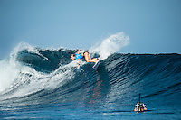 Namotu Island Resort, Nadi, Fiji (Sunday, May 29 2016): Nikki Van Dijk (AUS) - The  2016 Fiji Women's Pro commenced at 8 am this morning in clean 3'-4' waves at Cloudbreak. Round One was completed in near perfect conditions with just a slight offshore wind before the contest was called off for the day. Photo: joliphotos.com