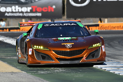 IMSA WeatherTech SportsCar Championship<br /> AMERICA'S TIRE 250<br /> Mazda Raceway Laguna Seca<br /> Monterey, CA USA<br /> Sunday 24 September 2017<br /> 93, Acura, Acura NSX, GTD, Andy Lally, Katherine Legge<br /> World Copyright: Richard Dole<br /> LAT Images<br /> ref: Digital Image DSC_4069