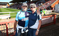 Wycombe Fans before the Sky Bet League 2 match between Exeter City and Wycombe Wanderers at St James' Park, Exeter, England on 26 September 2015. Photo by Pinnacle Photo Agency.