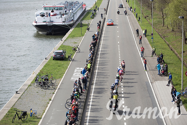 Early breakaway group with canal passage on the local laps in Schoten<br /> <br /> 105th Scheldeprijs 2017 (1.HC)<br /> 1day race: Mol &gt; Schoten 200km