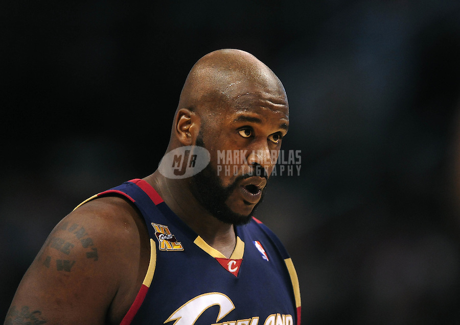 Dec. 21, 2009; Phoenix, AZ, USA; Cleveland Cavaliers center Shaquille O'Neal against the Phoenix Suns at the US Airways Center. Cleveland defeated Phoenix 109-91. Mandatory Credit: Mark J. Rebilas-