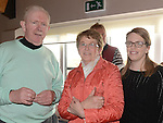 Brian, Mary and Susan Brodigan pictured at the Captain's Drive in at Seapoint Golf Club. Photo:Colin Bell/pressphotos.ie