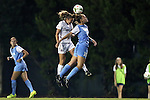 22 August 2014: North Carolina's Joanna Boyles (10) and Stanford's Alex Doll (left). The University of North Carolina Tar Heels hosted the Stanford University Cardinal at Fetzer Field in Chapel Hill, NC in a 2014 NCAA Division I Women's Soccer match. Stanford won the game 1-0 in sudden death overtime.