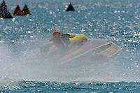 "Bill Gmeiner,Jr., GP-200 ""Lauterbach Special"", Grand Prix class Lauterbach hydroplane..10-12 July, 2009, 100th Gold Cup, Detroit River, Detroit, MI USA..©2009 F.Peirce Williams, USA."