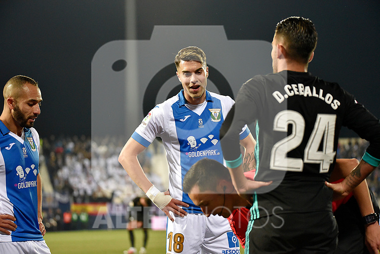 Leganes Jose Naranjo dejected vs Real Madrid during Copa del Rey  match. A quarter of final go. 20180118.