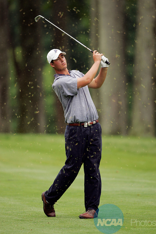 04 JUNE 2005:  Michael Putnam of Pepperdine University hits an approach shot during the Division I Men's Golf Championship held at the Caves Valley Golf Club in Baltimore, MD.  Putnam lost to James Lepp of the University of Washington in a triple sudden death overtime.  Jamie Schwaberow/NCAA Photos