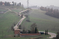the elite group approaching<br /> <br /> 11th Strade Bianche 2017