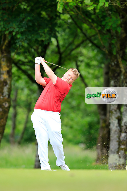 Max Martin (England) during the final round of the 2015 Irish Boys Amateur Open Championship, Tuam Golf Club, Tuam, Co Galway. 26/06/2015<br /> Picture: Golffile | Fran Caffrey