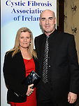 Steven and Hillary Kelly pictured at the 65 Roses ball in the Grove hotel. Photo:Colin Bell/pressphotos.ie