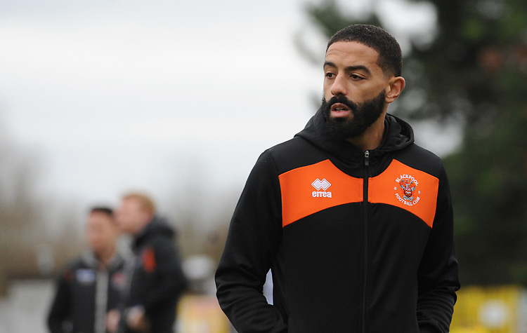 Blackpool's Liam Feeney<br /> <br /> Photographer Kevin Barnes/CameraSport<br /> <br /> The EFL Sky Bet League One - AFC Wimbledon v Blackpool - Saturday 29th December 2018 - Kingsmeadow Stadium - London<br /> <br /> World Copyright © 2018 CameraSport. All rights reserved. 43 Linden Ave. Countesthorpe. Leicester. England. LE8 5PG - Tel: +44 (0) 116 277 4147 - admin@camerasport.com - www.camerasport.com