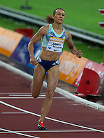 Jessica ENNIS HILL of GBR (Women's 100m Hurdles) finishes the race with a season best time of 12.79 during the Sainsburys Anniversary Games Athletics Event at the Olympic Park, London, England on 24 July 2015. Photo by Andy Rowland.