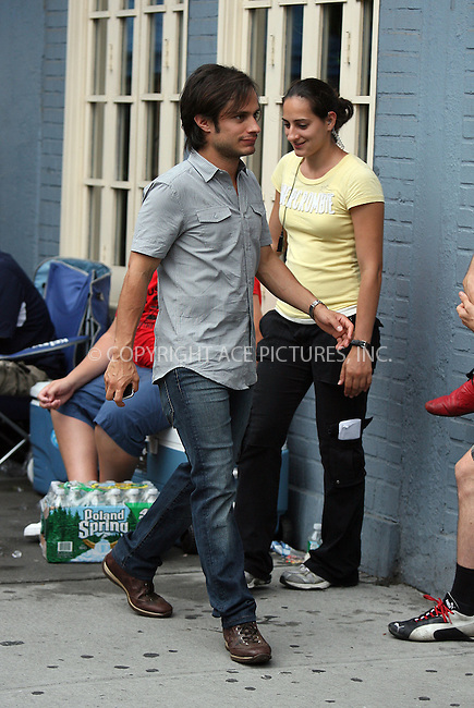 WWW.ACEPIXS.COM . . . . .  ....August 21 2009, New York City....Actor Gael García Bernal on the Soho set of the new movie 'Letters to Juliet' on August 21 2009 in New York City ....Please byline: PHILIP VAUGHAN - ACE PICTURES.... *** ***..Ace Pictures, Inc:  ..Philip Vaughan (212) 243-8787 or (646) 679 0430..e-mail: info@acepixs.com..web: http://www.acepixs.com