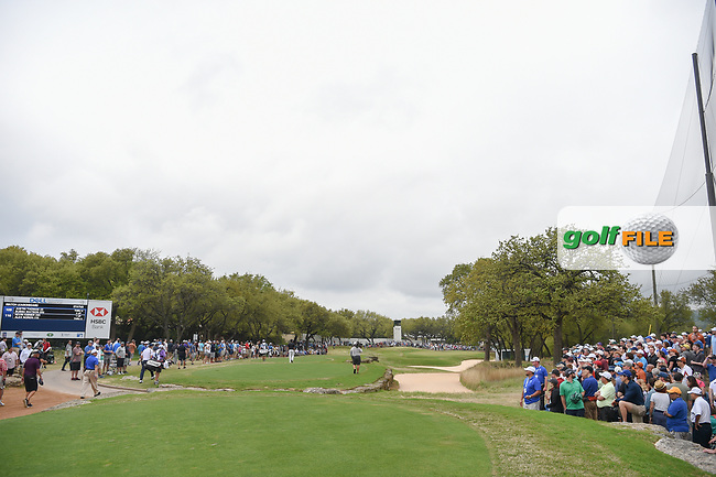Bubba Watson (USA) and Justin Thomas (USA) walk down 7 during day 5 of the World Golf Championships, Dell Match Play, Austin Country Club, Austin, Texas. 3/25/2018.<br /> Picture: Golffile | Ken Murray<br /> <br /> <br /> All photo usage must carry mandatory copyright credit (© Golffile | Ken Murray)