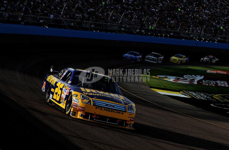 Nov. 9, 2008; Avondale, AZ, USA; NASCAR Sprint Cup Series driver Jamie McMurray during the Checker Auto Parts 500 at Phoenix International Raceway. Mandatory Credit: Mark J. Rebilas-