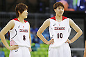 (L-R) Maki Takada, Ramu Tokashiki (JPN),  AUGUST 8, 2016 - Basketball : <br /> Women's Preliminary Round <br /> between Japan 82-66 Brazil <br /> at Youth Arena <br /> during the Rio 2016 Olympic Games in Rio de Janeiro, Brazil. <br /> (Photo by Yusuke Nakanishi/AFLO SPORT)