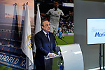 Florentino Perez during the Official presentation of Mariano Diaz at Estadio Santiago Bernabeu in Madrid, Spain. August 31, 2018. (ALTERPHOTOS/A. Perez Meca)