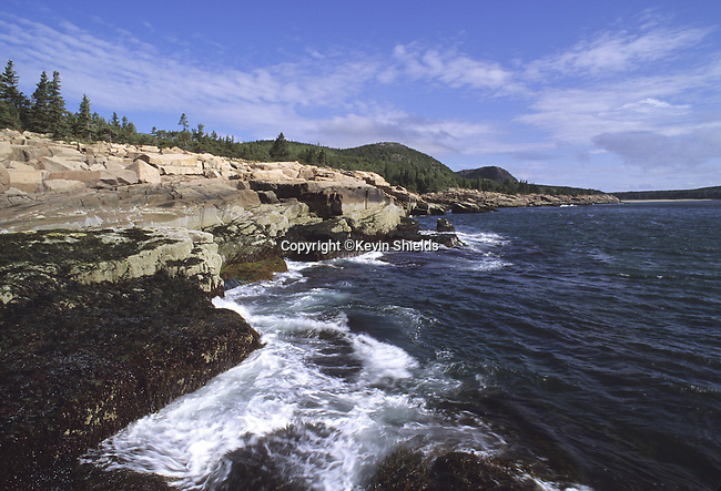 Shoreline at Acadia National Park, Maine, USA