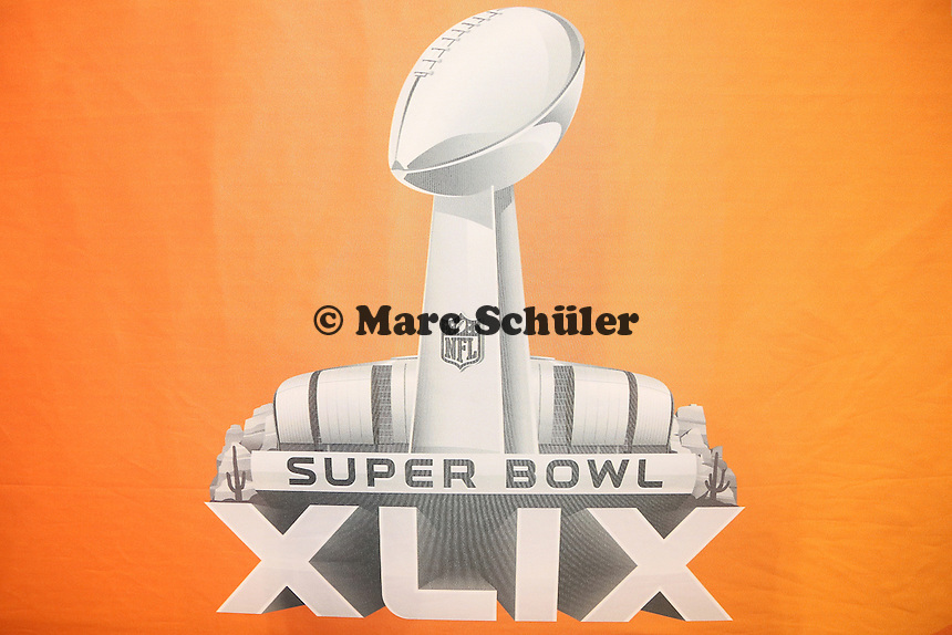 Logo des Super Bolw XLIX - Super Bowl XLIX Media Day, US Airways Center, Phoenix