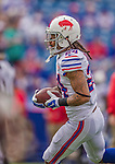 14 September 2014: Buffalo Bills cornerback Stephon Gilmore warms up prior to facing the Miami Dolphins at Ralph Wilson Stadium in Orchard Park, NY. The Bills defeated the Dolphins 29-10 to win their home opener and start the season with a 2-0 record. Mandatory Credit: Ed Wolfstein Photo *** RAW (NEF) Image File Available ***
