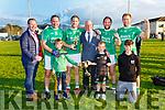 The Boyles of Ballyduff celebrate wiining the Junior Club Championship final in Killorglin on Saturday front row l-rL Colm, Aidan, Padraig, Bruce, Liam, Bobby, Mikey, Liam, Evan  Boyle