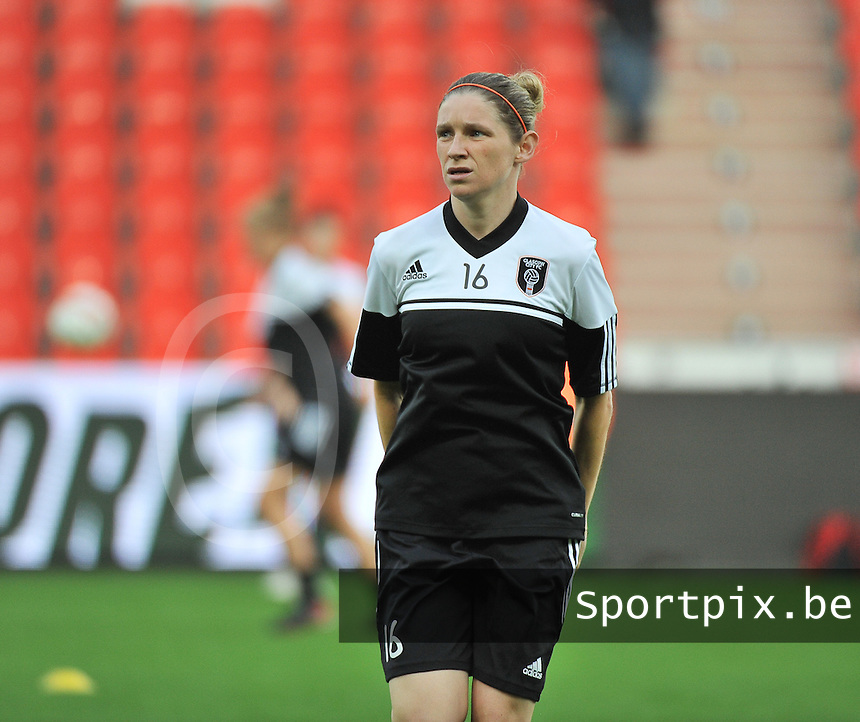 20131009 - LIEGE , BELGIUM : Glasgow Leanne Ross pictured during the female soccer match between STANDARD Femina de Liege and  GLASGOW City LFC , in the 1/16 final ( round of 32 ) first leg in the UEFA Women's Champions League 2013 in stade maurice dufrasne - Sclessin in Liege. Wednesday 9 October 2013. PHOTO DAVID CATRY