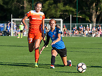 Kansas City, MO - Sunday July 02, 2017:  Cami Privett and Shea Groom battle for the ball during a regular season National Women's Soccer League (NWSL) match between FC Kansas City and the Houston Dash at Children's Mercy Victory Field.