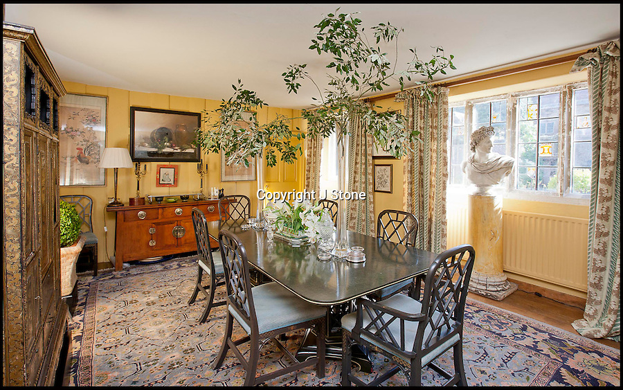 BNPS.co.uk (01202 558833)<br /> Pix: Jonathan Stone/BNPS<br /> <br /> Dining room.<br /> <br /> Property hunters yearning to get 'Far from the madding crowd' are heading for deepest Dorset after the magnificent Manor house that starred in the 1967 film of the famous Thomas Hardy novel has come on the market.<br /> <br /> The all star cast featuring Julie Christie, Alan Bates and Terence Stamp revolved around Bathesheba Everdene's inheritance of the stately pile, but modern Hardy fans will have to stump up £4million to acquire the 8 acre estate. <br /> <br /> The impressive Bloxworth House was used as one of the main locations in the 1967 movie based on Thomas Hardy's novel of the same name.<br /> <br /> The Grade-1 listed property, being sold by garden designer Martin Lane Fox, sits in beautiful gardens near Bere Regis in Dorset and has eight bedrooms, five bathrooms, four reception rooms, and a breakfast room.<br /> <br /> It also has vaulted wine cellars, 17th century stables, a brewery, pump house, a three bedroom cottage, a two-storey dovecote, tennis court, and a plunge pool.<br /> <br /> It was built in 1608 and was restored twice before it became the fictional home of heroine Bathsheba Everdene (Julie Christie) in the Oscar nominated flick.