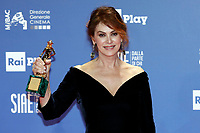Elena Sofia Ricci leading actress prize<br /> Rome March 27th 2019. 64th David Di Donatello awards ceremony.<br /> photo di Samantha Zucchi/Insidefoto