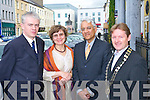 AMBASSADOR: His Excellency PS Raghavan, The Ambassador of India, and his wife Barbara, were guests of Tralee Chamber at the start of their visit to the town on Tuesday. Also in the photograph are Mark O'Sullivan (Holiday Tralee) and James Clifford (president, Tralee Chamber).   Copyright Kerry's Eye 2008