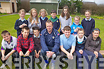 MEDAL WINNERS: Pupils at Douglas NS, Killorglin who received medals for the footballing involvement during the past year, front l-r: Adam Prendergast, Kealan Griffin, Dave Purcell, Paudie O'Shea (Coach), Sean Austridge, Alana Foley, Lauren Hurley. Back l-r: Lorna Griffin, Saskya Von Dergeest Moroney, Geraldine Moriarty, James Hurley, Tracey Riordan, Jane Carr, Lauren Austridge.