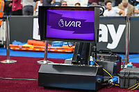 VAR during the Premier League match between West Ham United and Manchester City at the London Stadium, London, England on 10 August 2019. Photo by David Horn.