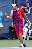 Washington, DC - August 3, 2019:  Lukasz Kubot (POL)celebrates after winning a point during the  Men Doubles semi finals at William H.G. FitzGerald Tennis Center in Washington, DC  August 3, 2019.  (Photo by Elliott Brown/Media Images International)
