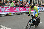 Primoz Roglic (SLO) climbs Parliment Street during the Men Elite Individual Time Trial of the UCI World Championships 2019 running 54km from Northallerton to Harrogate, England. 25th September 2019.<br /> Picture: Seamus Yore | Cyclefile<br /> <br /> All photos usage must carry mandatory copyright credit (© Cyclefile | Seamus Yore)