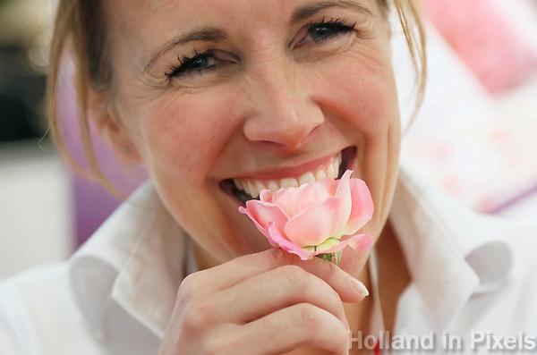 Nederland - Amsterdam - Januari 2019.  HORECAVA.  Incredible Roses. Eetbare rozen van Hollandse bodem.  Foto Berlinda van Dam / Hollandse Hoogte