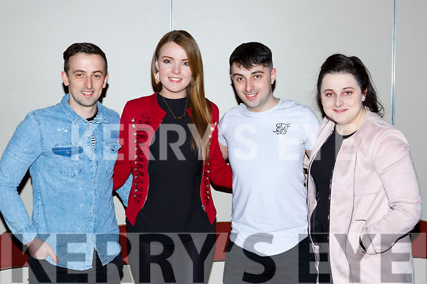 Tommy O'Sullivan, Marion Lynch, Jason O'Sullivan and Alyssa O'Sullivan at the Killarney Strictly Come Dancing in the INEC on Friday night