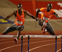Isa Phillips(573) ran 48.79sec. to place 2nd. as Kerron Clement(639) ran 49.10sec. to place 5th. at the Jamaica International Invitational Meet held at the National Stadium, Kingston, Jamaica on Saturday, May 2nd. 2009. Photo by Errol Anderson, The Sporting Image.net