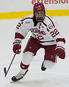 Devin Tringale (Harvard - 22) - The Harvard University Crimson defeated the visiting Cornell University Big Red on Saturday, November 5, 2016, at the Bright-Landry Hockey Center in Boston, Massachusetts.