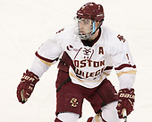 Austin Cangelosi (BC - 9) - The visiting Merrimack College Warriors defeated the Boston College Eagles 6 - 3 (EN) on Friday, February 10, 2017, at Kelley Rink in Conte Forum in Chestnut Hill, Massachusetts.
