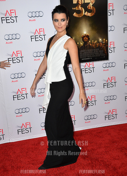 Actress Cote de Pablo at the premiere of her movie &quot;The 33&quot;, part of the AFI FEST 2015, at the TCL Chinese Theatre, Hollywood. <br /> November 9, 2015  Los Angeles, CA<br /> Picture: Paul Smith / Featureflash